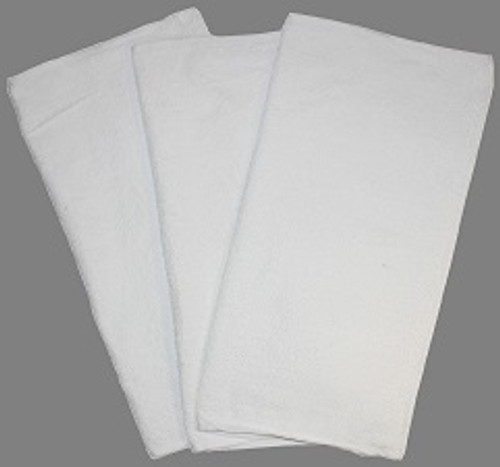 Soft White Terry Towels - 12/pack