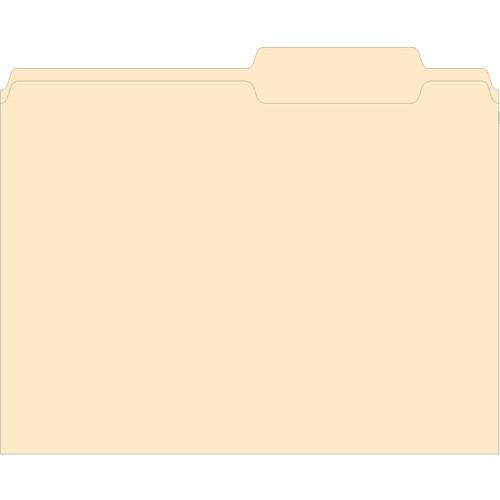 """3 Tab File Folder - Plain, 11 5/8"""" x 9"""" with 7/16"""" Tabs, 500 per Box"""