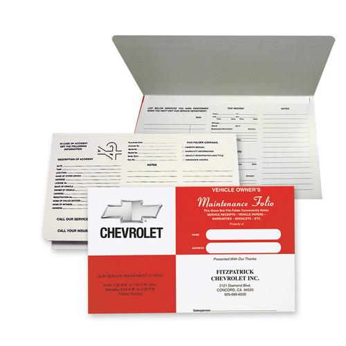 "Imprintable Cardstock 9-7/8""X6"" Re Square Document Folder"