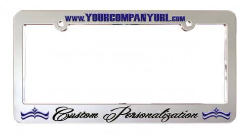 Chrome Plated Custom License Plate Frames