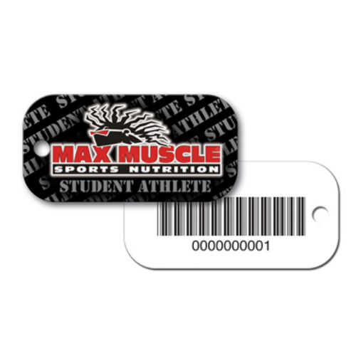Custom Poly Key Tag with Rounded Corners