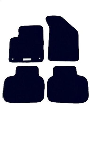Custom Fit for 2011 through 2018 Dodge Journey, 4-piece Carpeted Floor Mat Set, Black