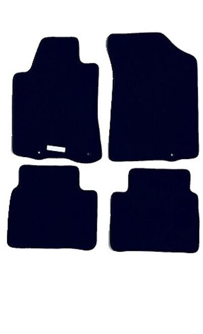 Custom Fit for 2014 through 2018 Nissan Altima, 4-piece Carpeted Floor Mat Set, Black