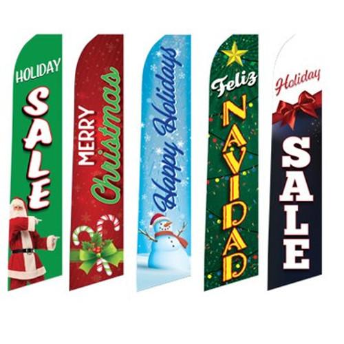 Holiday Swooper Flag & Pole Kit