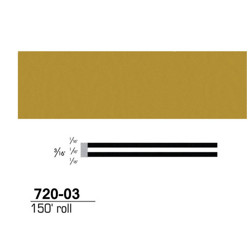 3M(TM) Scotchcal(TM) Striping Tape 72003, Gold met, 3/16 in x 150 ft
