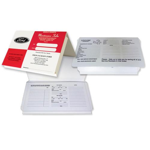 "Imprintable 9-7/8""X6"" Expandable Red Square Document Folder"