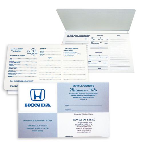 "Imprintable Cardstock 9-7/8""X6"" Expandable Blue Square Document Folder"