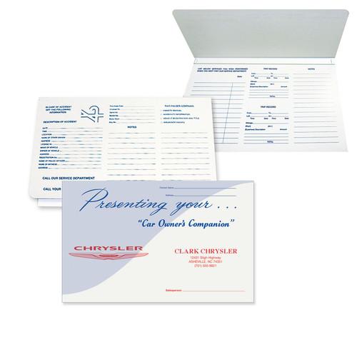 """Imprintable Cardstock -7/8""""X6"""" Blue Waver Car Owner's Document Folder"""