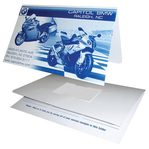 "Custom Document Folder 9 7/8"" x 6"""