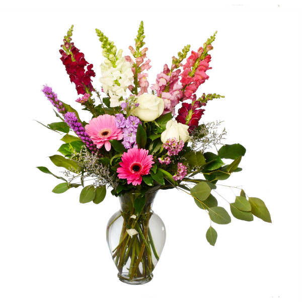 Bright and colourful floral bouquet for delivery in Burnaby and Vancouver for Birthday or Mother's Day