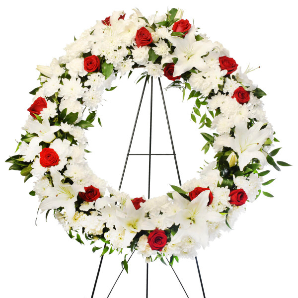 Best florist in Vancouver, funeral flower wreath for delivery in Burnaby