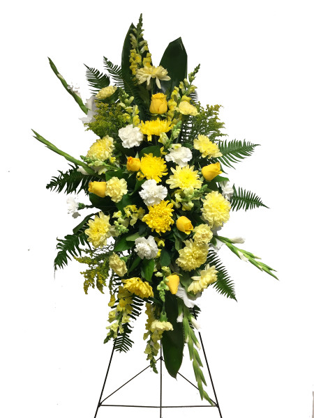 Coquitlam Funeral Flower Standing Spray for Him | Burnaby Florist Adele Rae