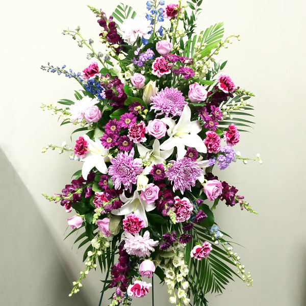 Vancouver affordable funeral flower standing spray | Burnaby Funeral Florist Adele Rae