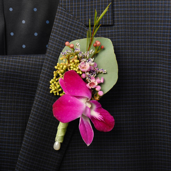 Boutonnieres and corsages for wedding and graduations from Burnaby florist Adele Rae.