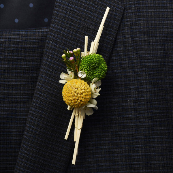 Rustic style Vancouver BC boutonniere - Adele Rae Florists.
