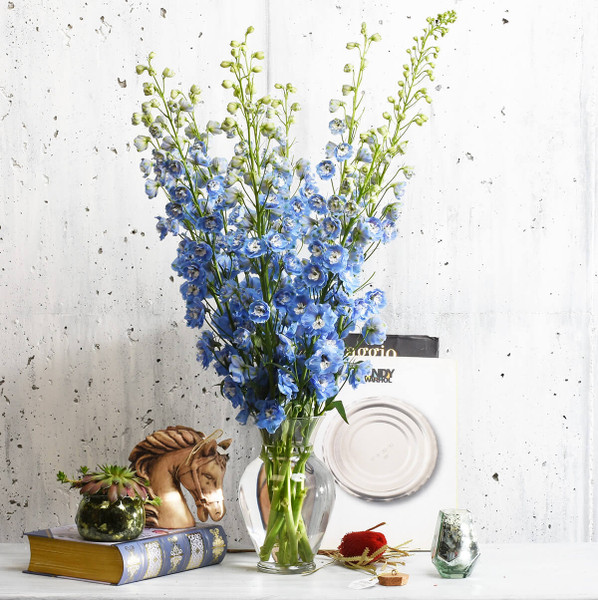 Blue delphinium flower arrangement delivery Vancouver & Burnaby | Local Florist Adele Rae