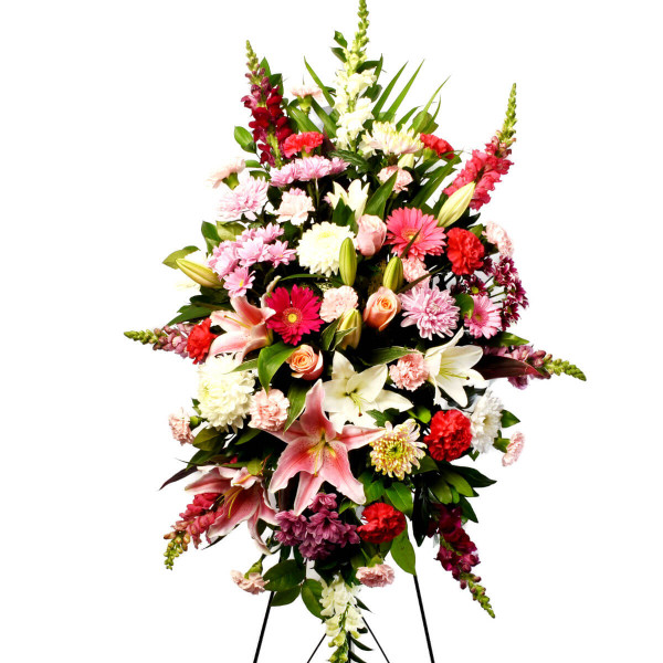 Vancouver Funeral Flower Standing Spray Delivery | Adele Rae Florist