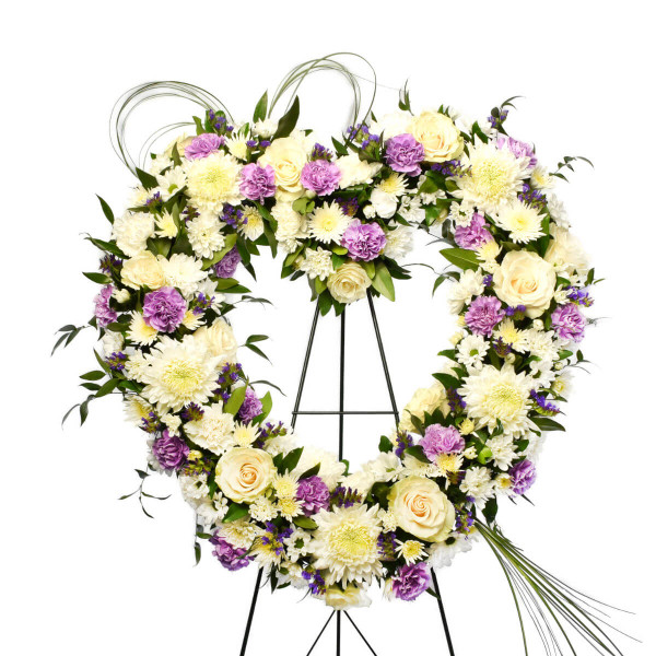Funeral Flower Heart delivery to Vancouver, Burnaby and Coquitlam | Adele Rae best funeral florist in Metro-Vancouver