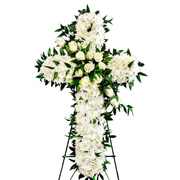 Vancouver Funeral Flower Delivery | Funeral Flower Cross | Adele Rae Florist