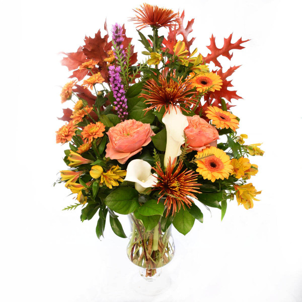 Luxury Birthday Flower Arrangement in Fall Colours | Burnaby & Vancouver Florist Adele Rae