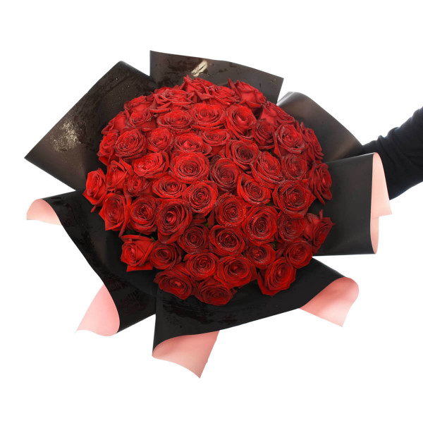 Big Red Rose Valentines Flower Bouquet | Adele Rae