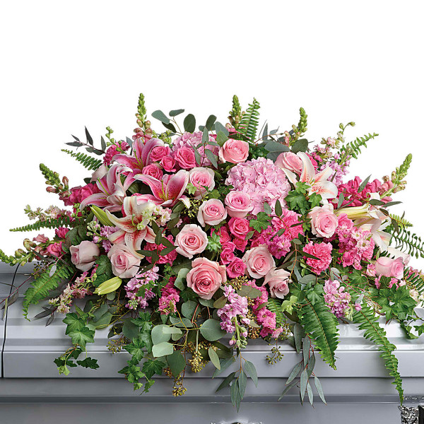 Vancouver BC Funeral Flowers Casket Spray for Her | Adele Rae