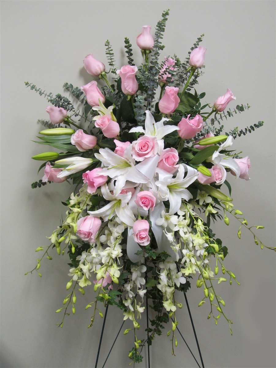 Funeral standing spray for her | Flower Delivery Metrotown Burnaby BC