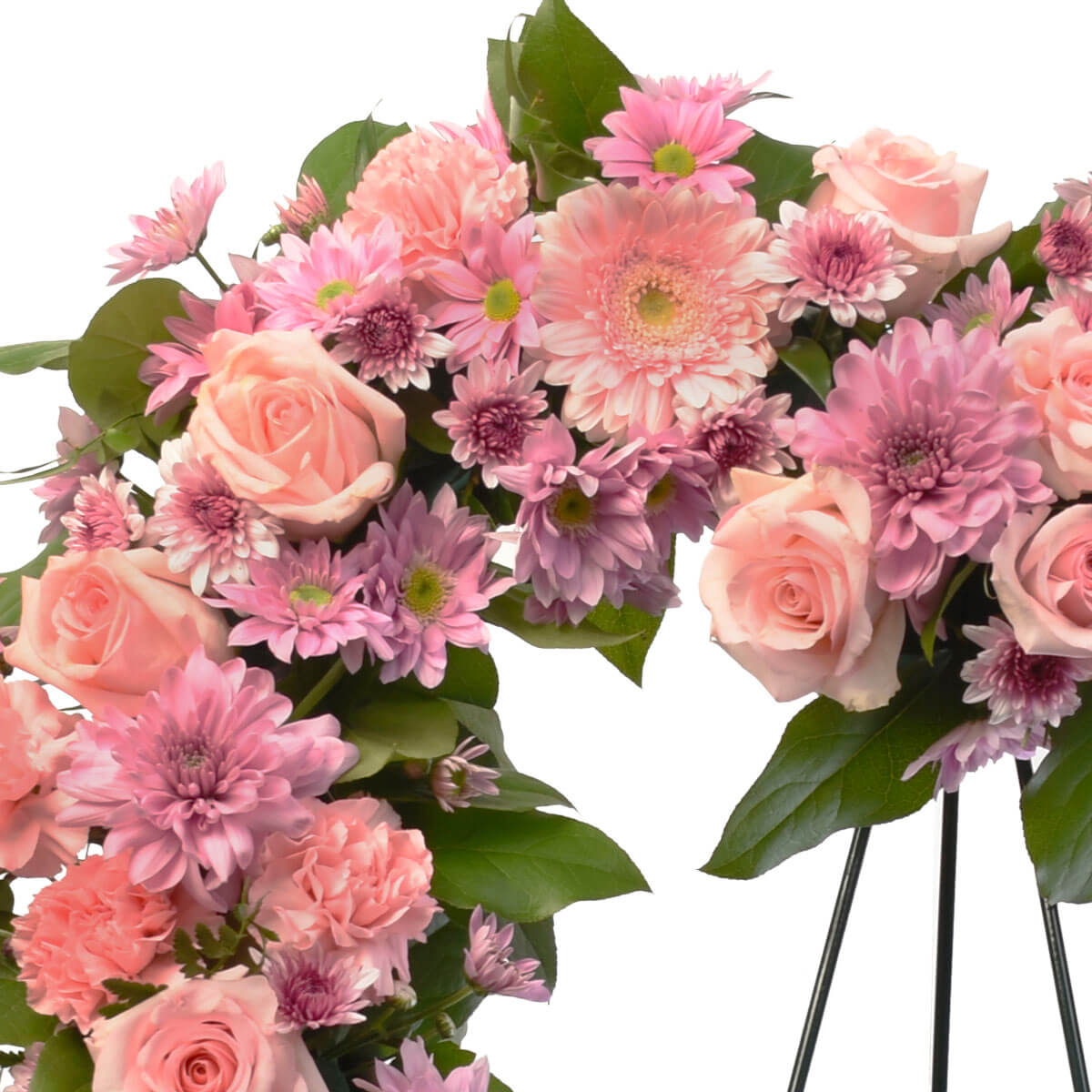 Heart funeral flower wreath for delivery in Burnaby and Coquitlam