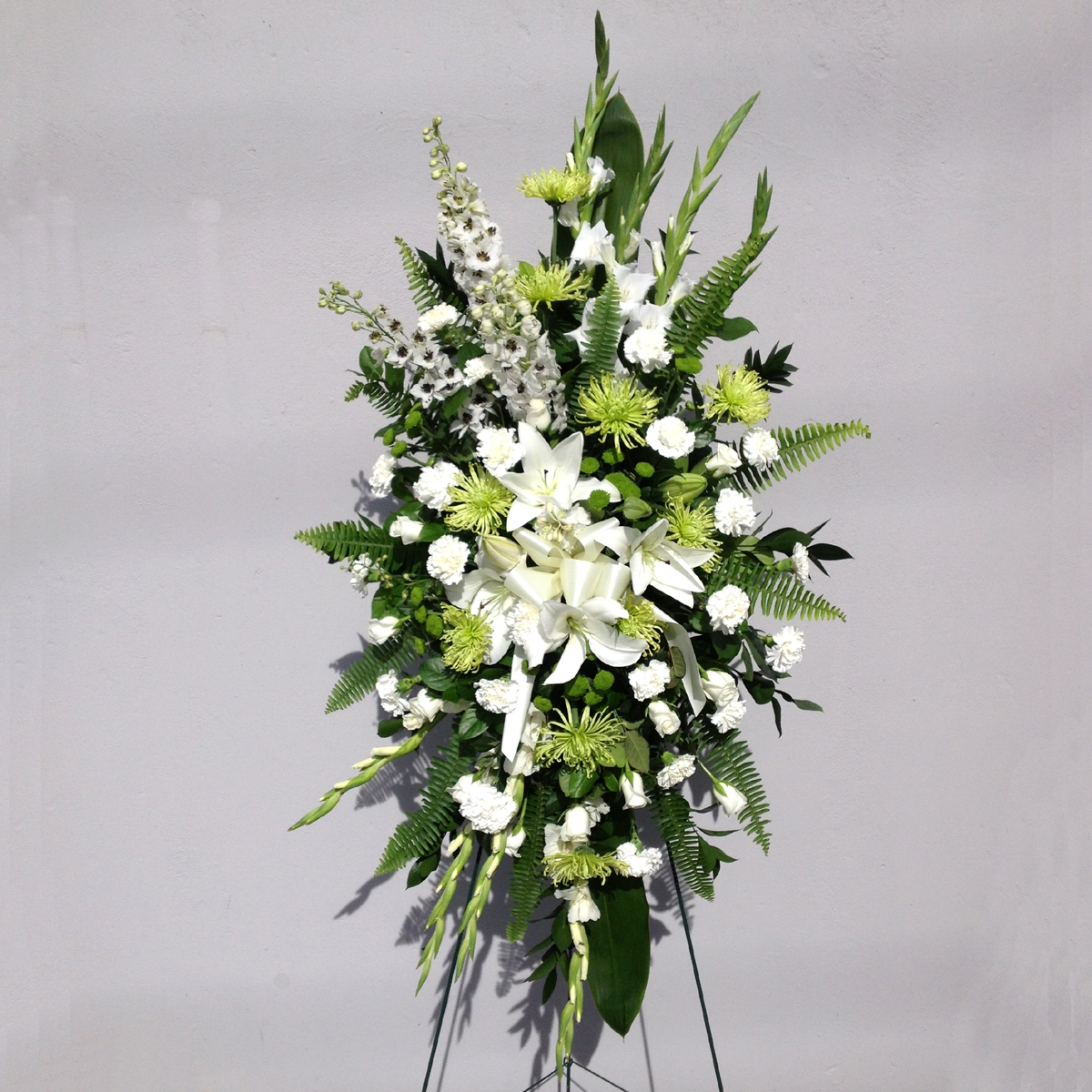 Gorgeous and elegant standing spray for delivery to Burnaby BC