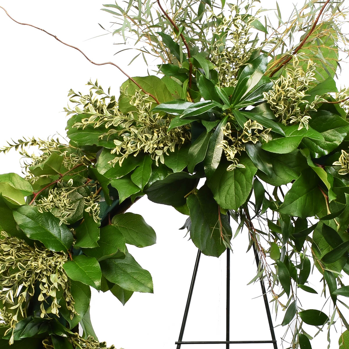 Funeral wreath made of plants in Vancouver