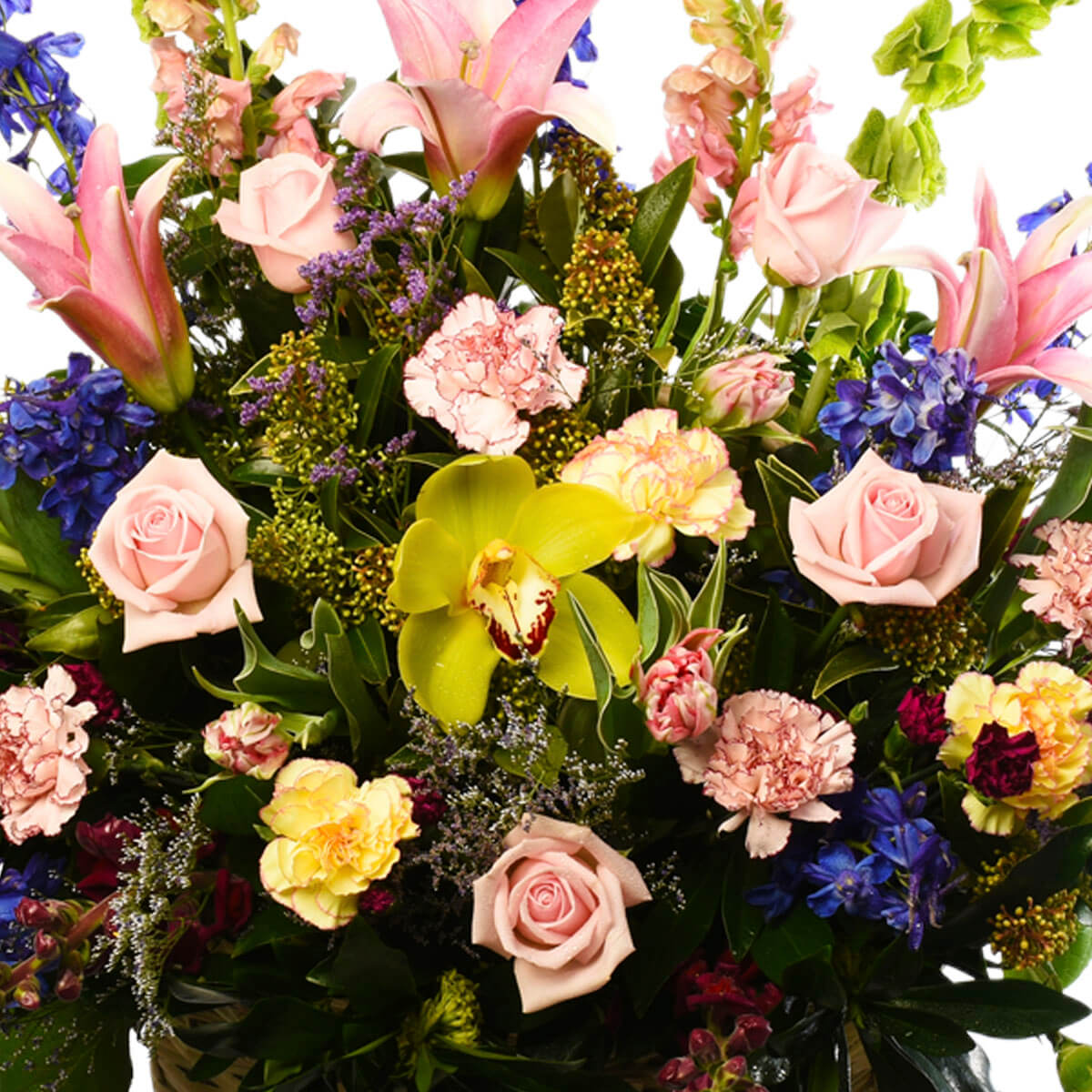 Flower Arrangement In A Basket Design Sympathy For Delivery Vancouver And Burnaby