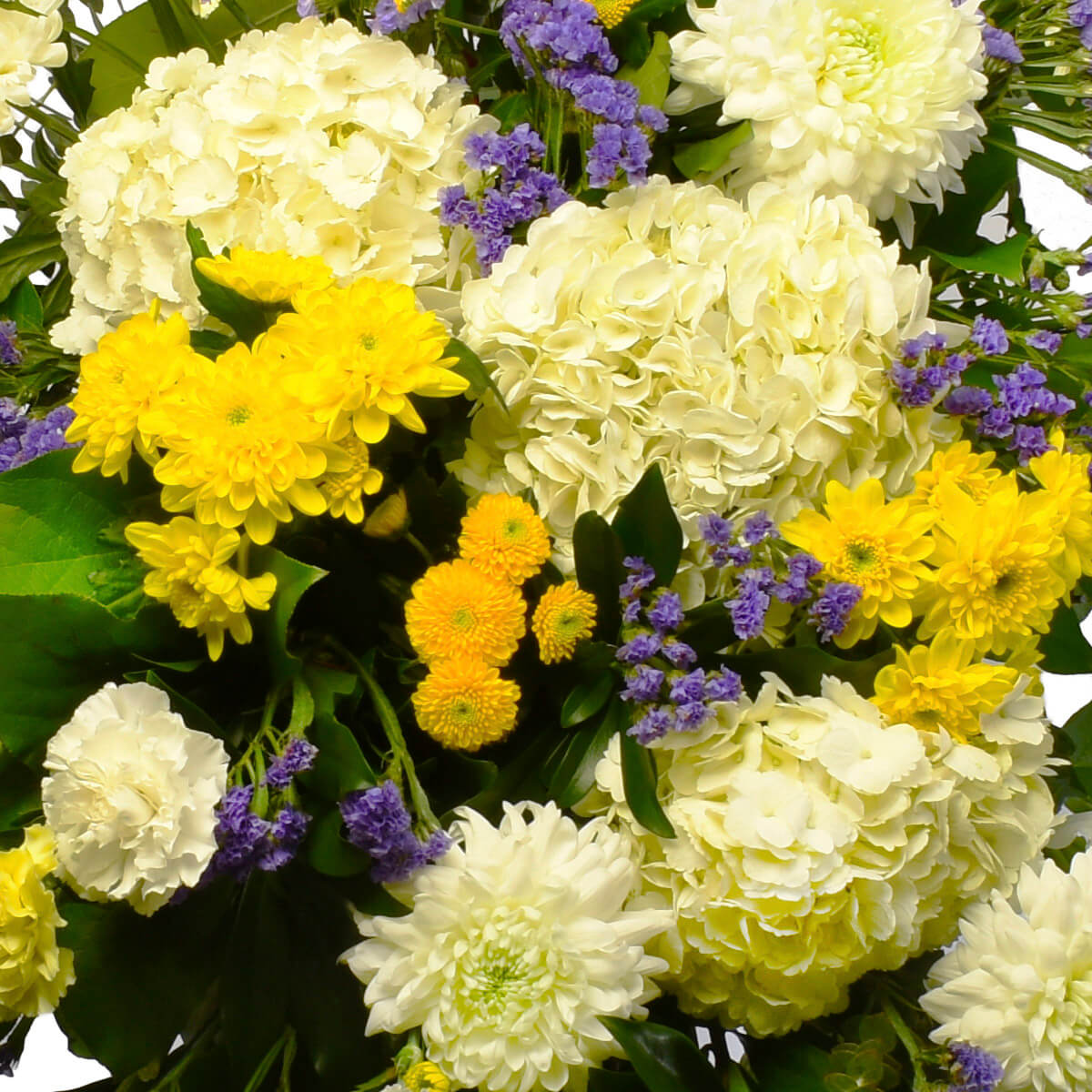 Funeral and sympathy flower standing spray for delivery in Vancouver, Burnaby and Coquitlam.