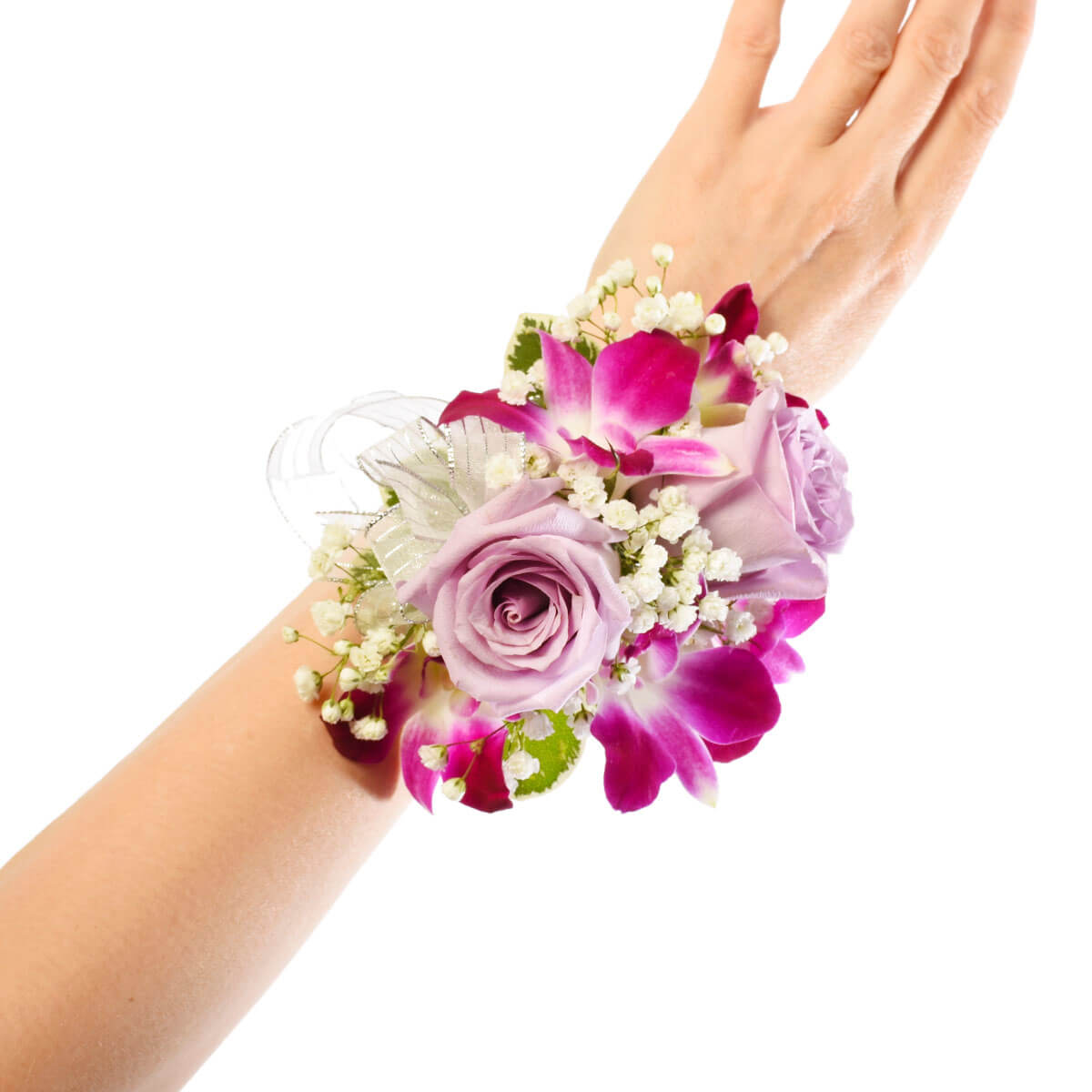 Luxury Prom and Wedding wrist corsage for delivery to Burnaby, Vancouver, Coquitlam and North Van. | Local Florist in Burnaby Adele Rae Florists.