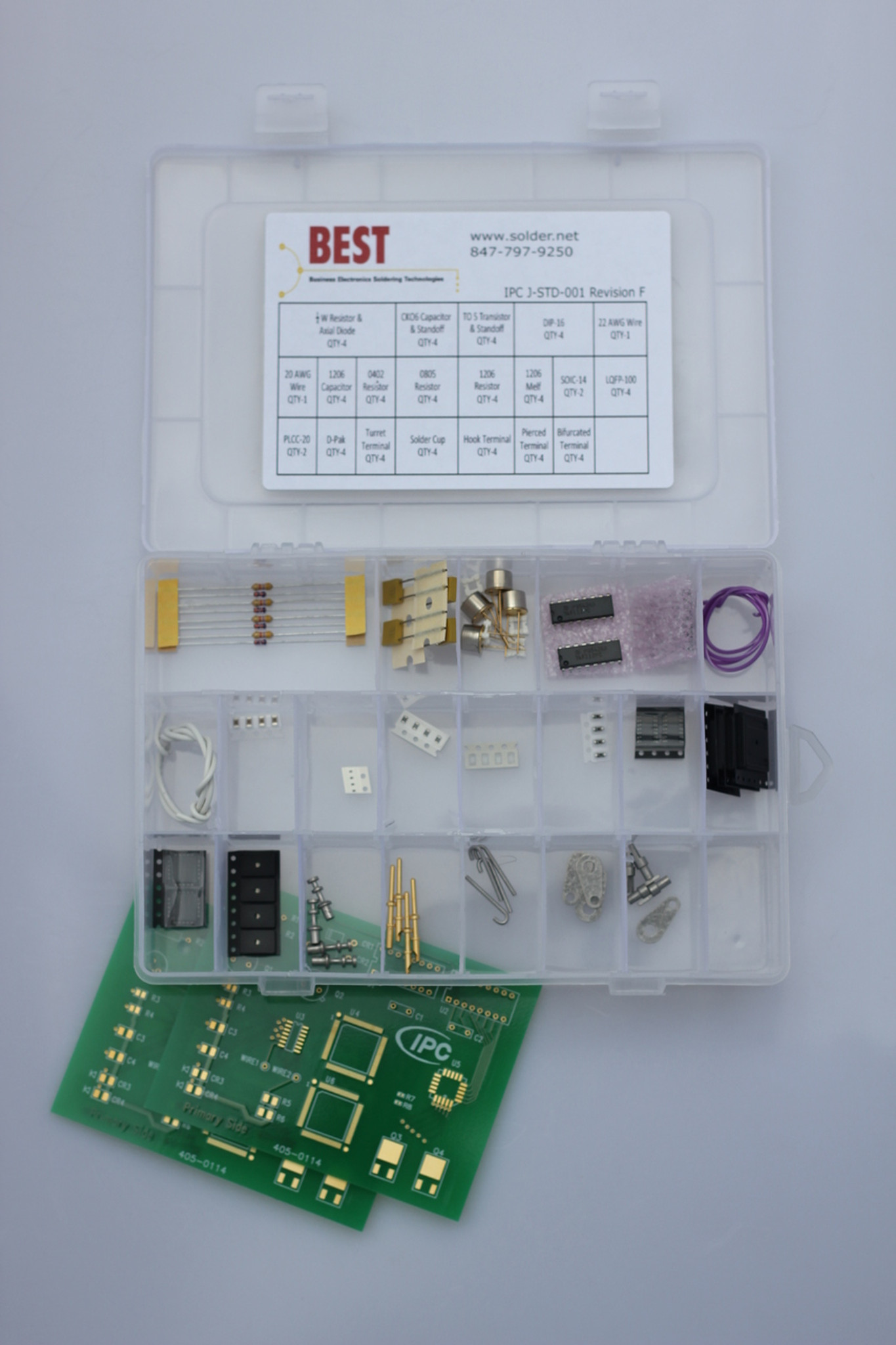 IPC J-STD-001 Revision F / G Solder Training Kit