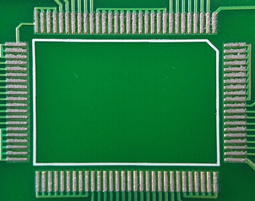 Solder paste printed onto board using flexible film adhesive backed rework stencil