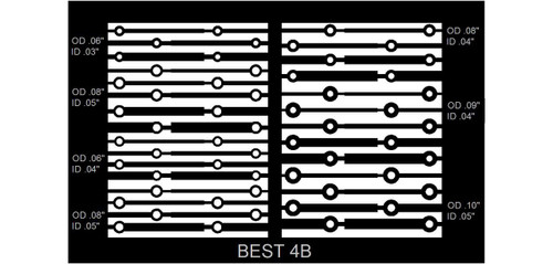 BEST circuit frame pattern 4A for throughole pad repair