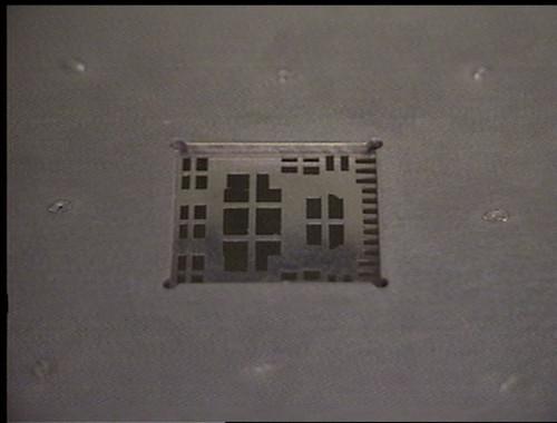 Device printing stencil