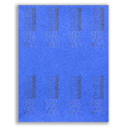 Blue Painters Tape Shapes Laser Cut (3M Type 2090) Using Customer-Supplied Drawings