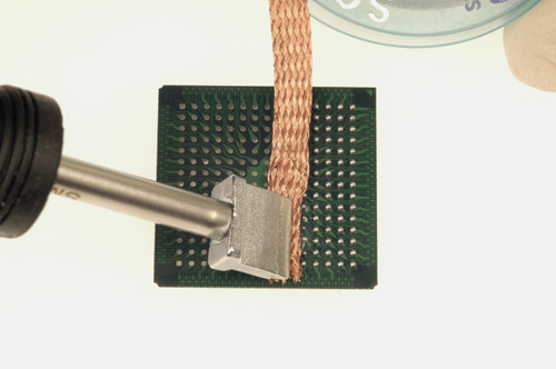 Wicking the BGA to remove solder