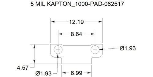 Custom laser machined part