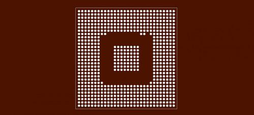 Reballing preform for ATI FGL 9600 Graphic Processor