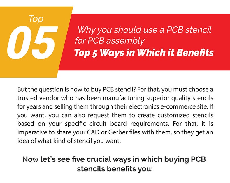 Why You Should Buy PCB Stencil? Top 5 Ways in Which it Benefits
