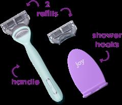 handle + 2 refills + shower hook
