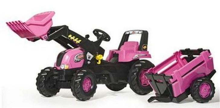 Rolly Junior Pink Tractor, Trailer and Loader