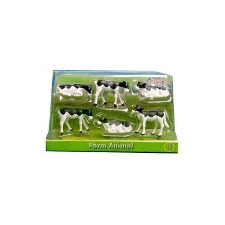 1:32 6 Pack Black & White Calves