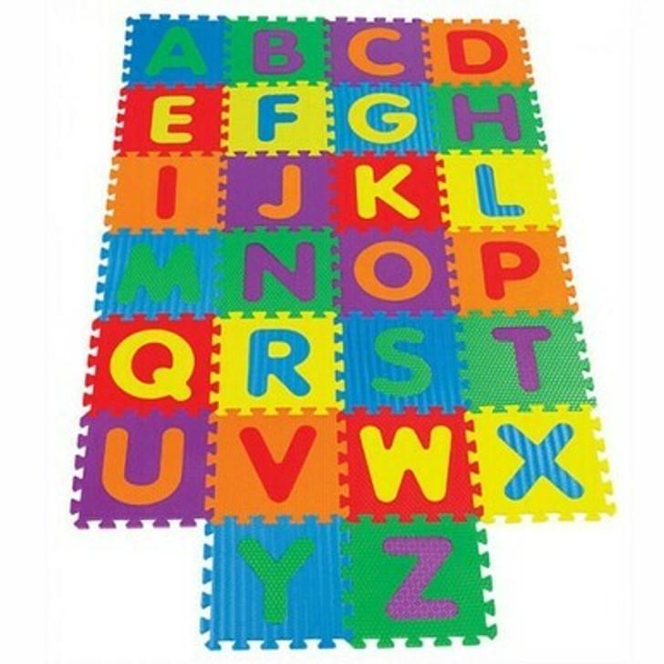 Soft Alphabet Puzzle Play Mats - Interlocking Foam Mat For Children - Activity Puzzle Playmats - Floor Protection - EVA Foam Rubber Alphabet