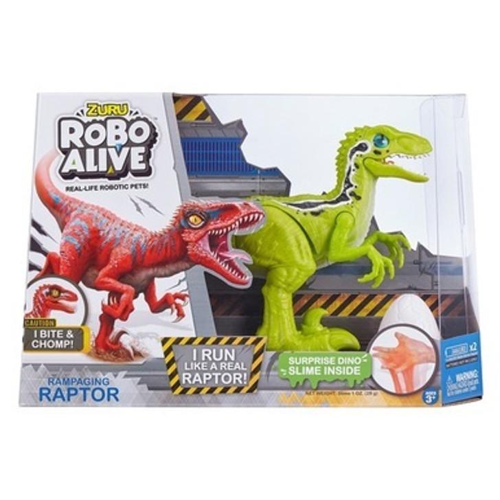 Robo Alive Raptor Dinosaur Green