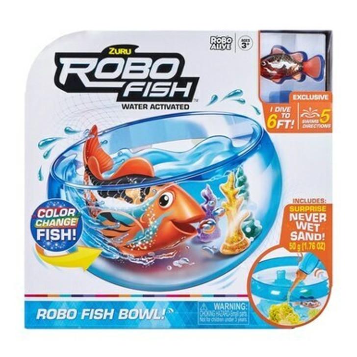 Robo Fish Robotic Swimming Pets Fish Tank Playset Orange
