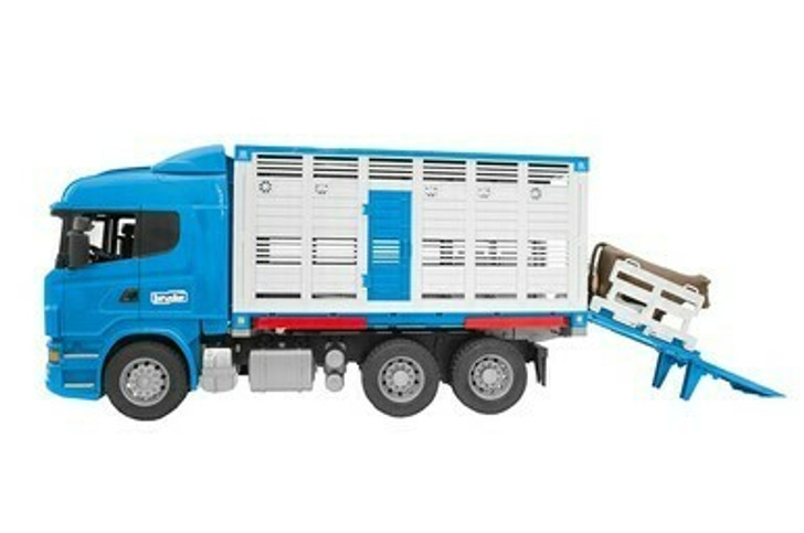Scania R-Series Cattle Transport Truck With 1 Cow