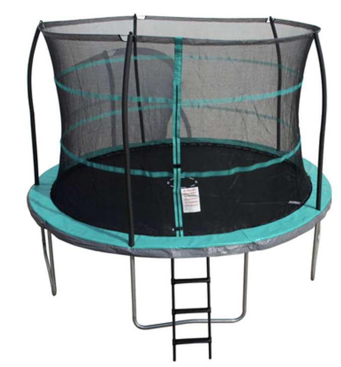 12 Ft Trampoline with enclosure and anchor kit